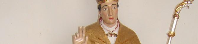 Statua lignea S.Carlo Borromeo